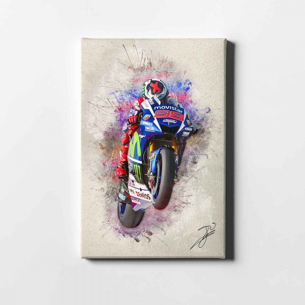 "Jorge Lorenzo - ""Barcelona wheelie artwork"" - JL09 -"