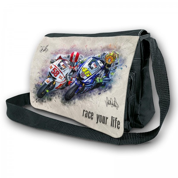Schultertasche - Valentino Rossi & Marco Simoncelli - Race your Life