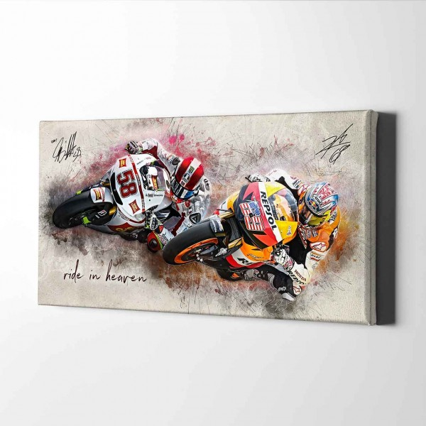 "Nicky Hayden und Marco Simoncelli ""2 young"" - HS01"