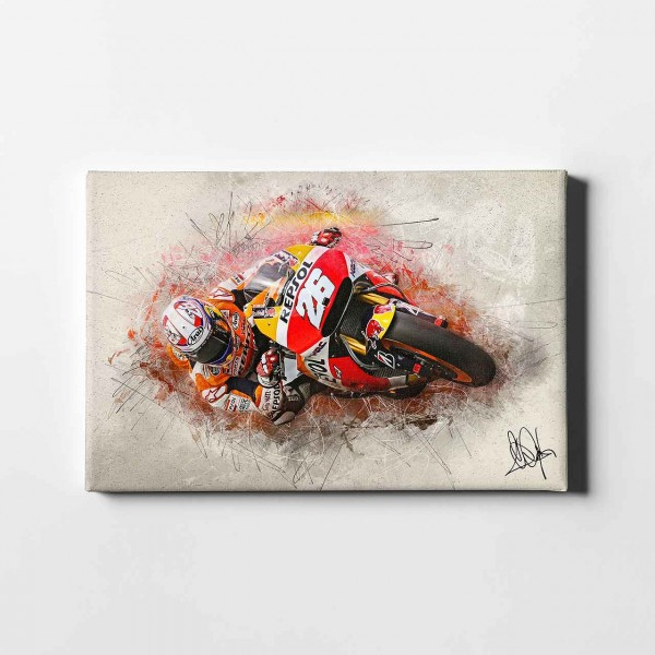 "Dani Pedrosa - ""Hang off artwork"" - DP03 -"