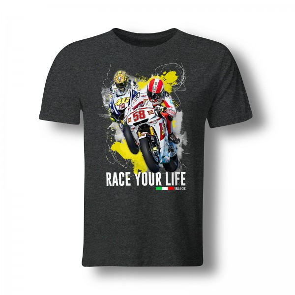 T-Shirt Valentino Rossi & Marco Simoncelli - Race your Life