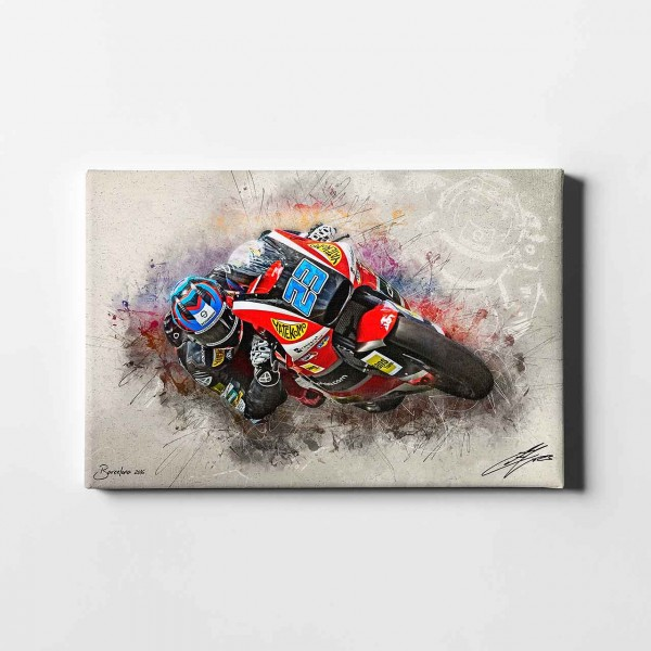 "Marcel Schrötter - ""Barcelona Turn 3 - artwork"" - MS01 -"