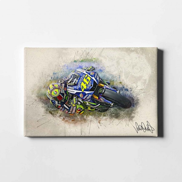 "Valentino Rossi - ""Barcelona Hang off artwork"" - VR18 -"