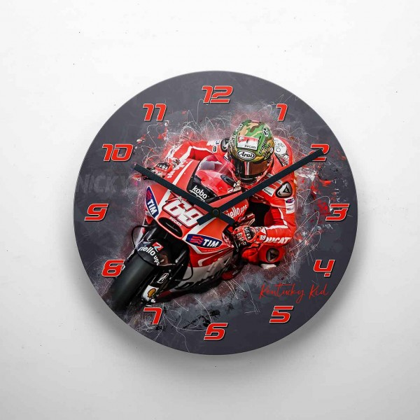 GP-Clock - Nicky Hayden - 01 | Wanduhr