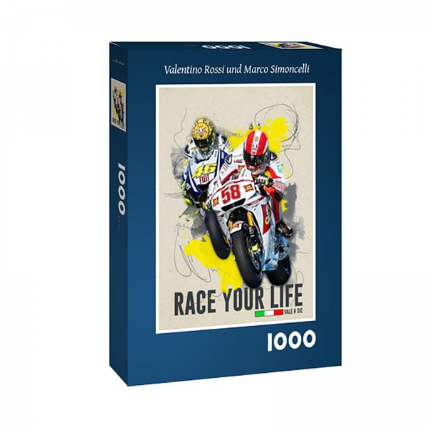 Puzzle - Valentino Rossi & Marco Simoncelli - Race your Life